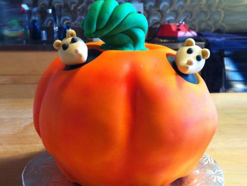 Baking A 3D Pumpkin Cake | Brit + Co