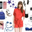 How to Stylishly Rock Red, White, and Blue