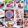 Red, White and Blue Pops, Cakes and Cookies