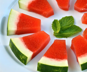 Watermelon Mint Jello Shots… in a Watermelon Rind!