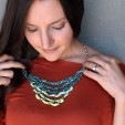 DIY Tiered Ombre Necklace