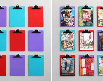 How to Use Clipboards to Create a Real Life Pinterest Board