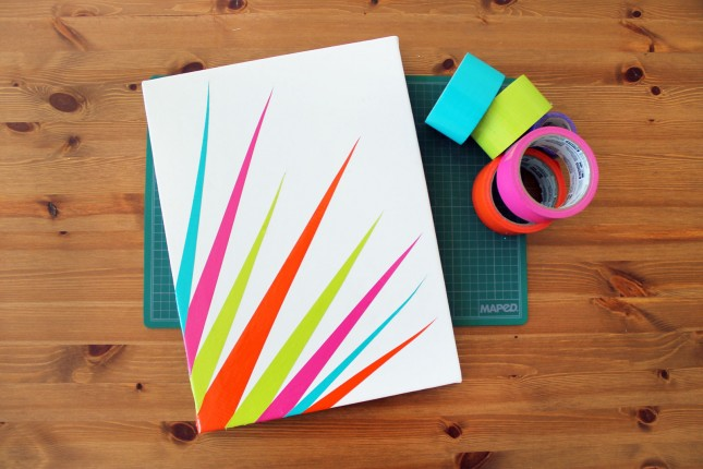 Diy Wall Art Canvas Tape : Diy duct tape canvas art in seconds brit co