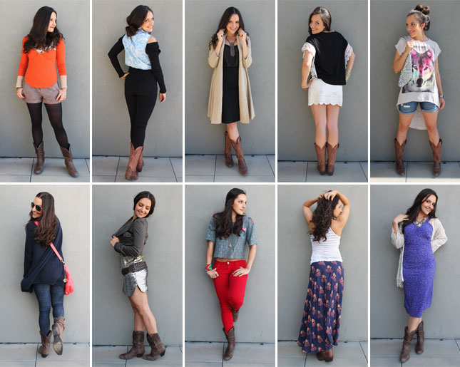 10 Ways To Style Cowboy Boots Giveaway Brit Co