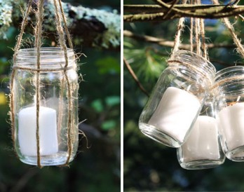 DIY Basics: Hanging Jar Lanterns