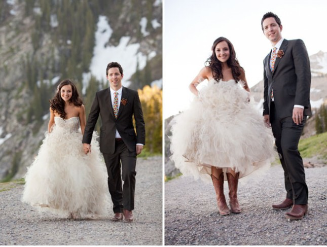 Wedding Dresses For Cowboy Boots : High low wedding dresses with cowboy boots images