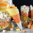 Candy Corn Popcorn in Candy Corn Cones!