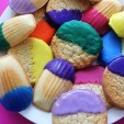 Color Block Your Sweets: Dip Dye Cookies