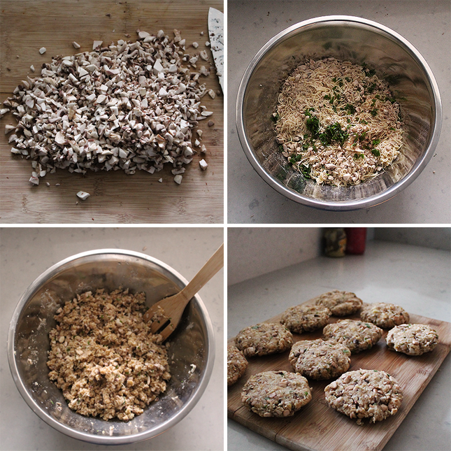The Mushroom Burger Process