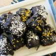 Star-Studded Dark Chocolate Cake Bites