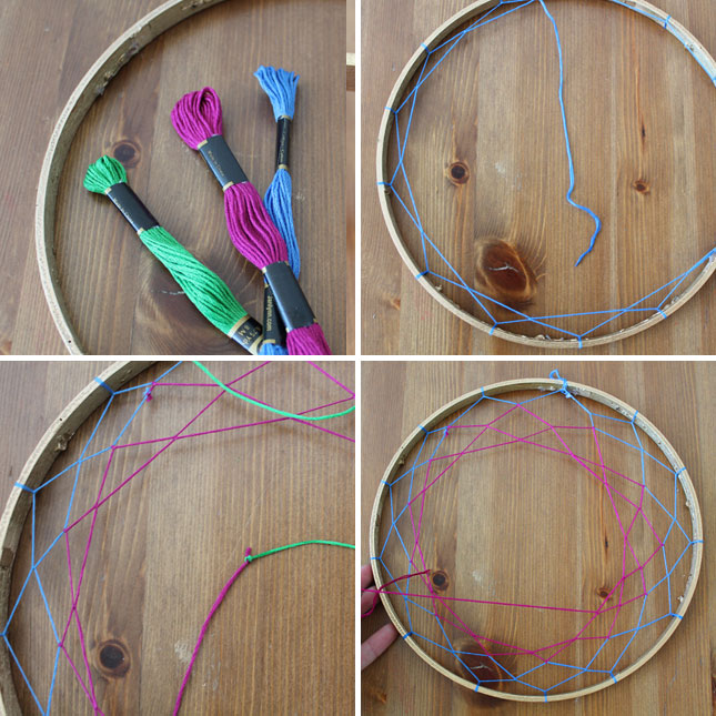 Diy basics dreamcatcher earring caddy brit co for How to tie a dreamcatcher web