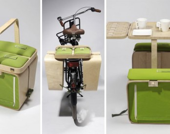 A Picnic Basket That Triples as a Table Set + Bike Trunk