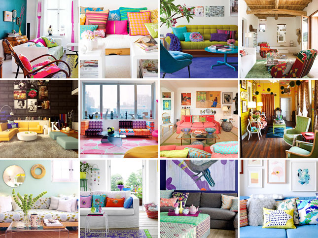 Ideas For Infusing All The Color You Want Into A Chic Living Room