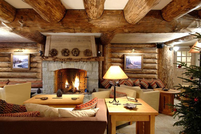 10 cozy winter cabins brit co for Winter cabin bedding