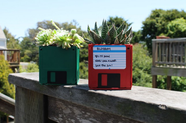 Floppy Disk Planters : We'll start with an oldie but a goodie