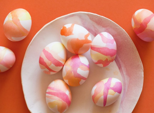 Watercolor Easter Eggs Decorate Easter Eggs