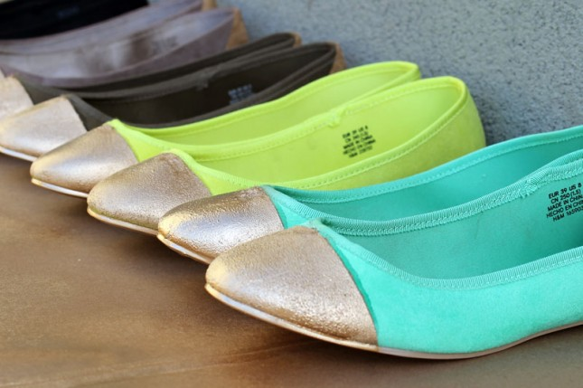 Gold Tipped Ballet Flats - Brit + Co.