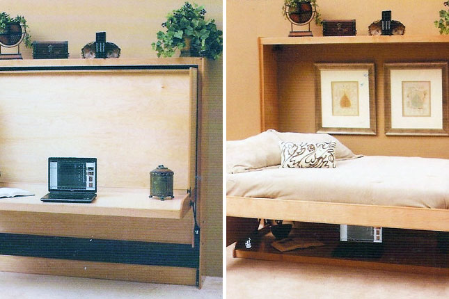 Fold Up Wall Bed Dorm Room