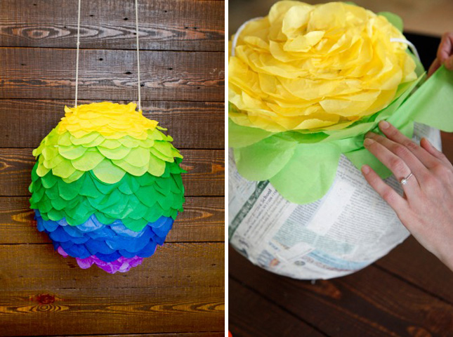 20 creative ways to make a pi ata brit co for Best way to paper mache a balloon