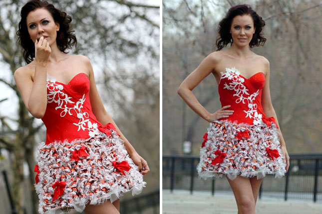 15 Inventive Dresses Made from Recycled MaterialsDress Made Out Of Recycled Materials