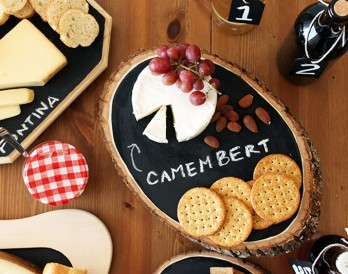 DIY Basics: Chalkboard Cheese Trays