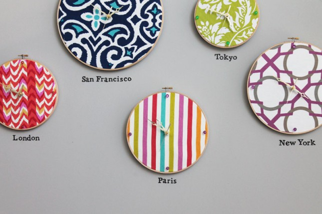 DIY : Turn an Embroidery Hoop into a Clock