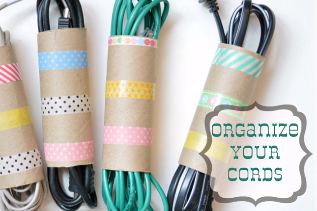 3 washi cord organizers of course we couldn t come Charger cord organizer diy