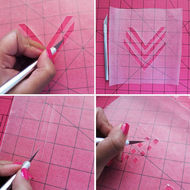 how to cut chevron pattern