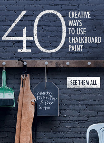 Chalk It Up: 40 Creative Ways to Use Chalkboard Paint