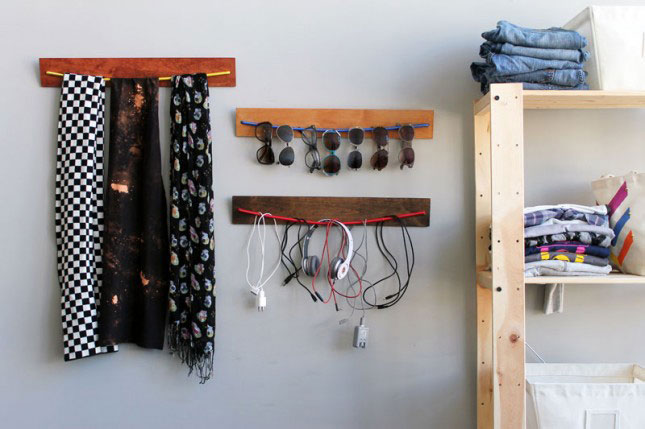Wooden Bungee Organizers : First, something from the Brit + Co ...