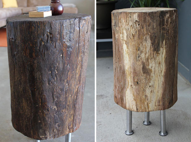 11 stump for Diy wood stump side table