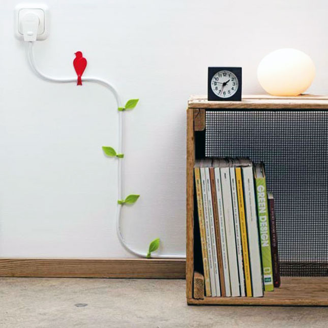 11 creative diy ways to organize your cords brit co poppy nature accents get those cords off the floor with these leaf clips we didnt believe it was possible but these little clips almost make us not mind solutioingenieria Choice Image