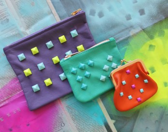 How to Create a Colorful Studded Clutch