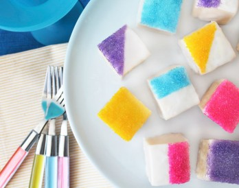 Make Easy Color-Blocked Petit Fours With Only 5 Ingredients!