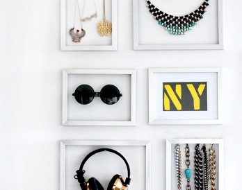 Use Frames as DIY Jewelry Storage
