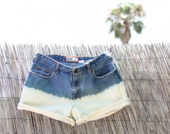 Bleach-Dipped Denim Cutoffs