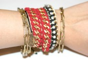 [my DIY] rope wrapped chain bracelet