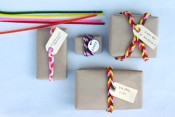 Wrapping Gifts with Pipe Cleaners