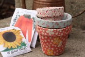 D.I.Y. Fabric Covered FlowerPots