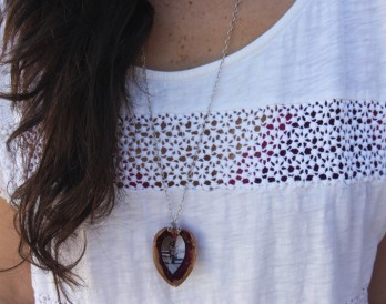 DIY Walnut Heart Necklace