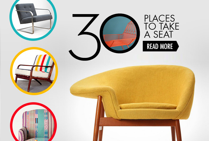 30 Places to Take a Seat