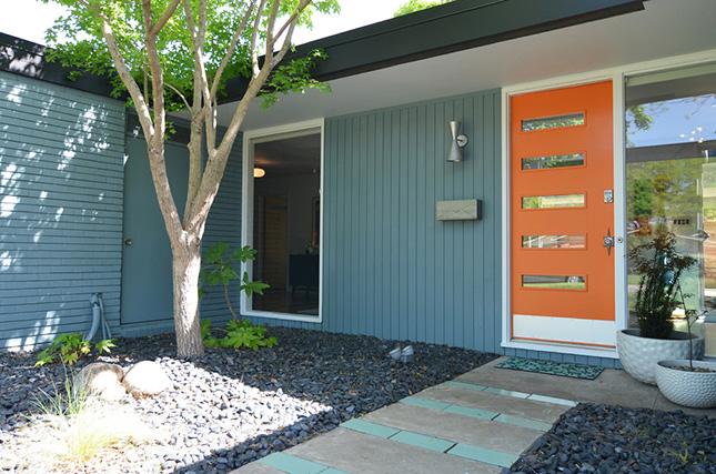 Horizontal Window in an Orange Door & Sunshine Online (:: Totally Random! Cool Door Designs!!