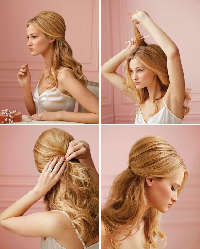 curling your hair makes it way easier to pin up to create dos like ...