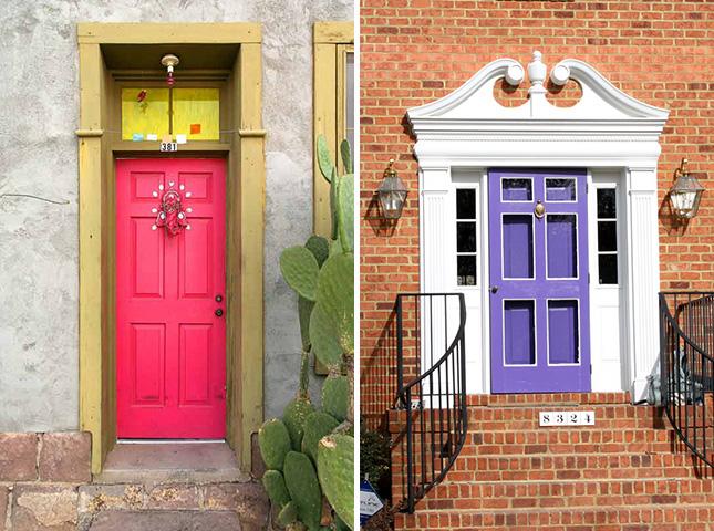 Neon Front Door And Matching Storm Door