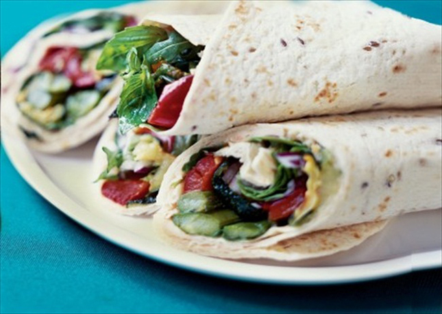Grilled Vegetable Wrap : The grilled vegetables in this wrap are ...