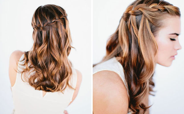 Waterfall Braid : The waterfall braid is one of those braids that