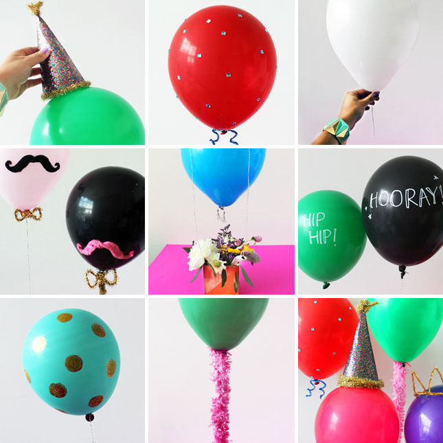 Amazing To Decorate Our Balloons 7 Festive Ways To Decorate Balloons | Brit + Co.