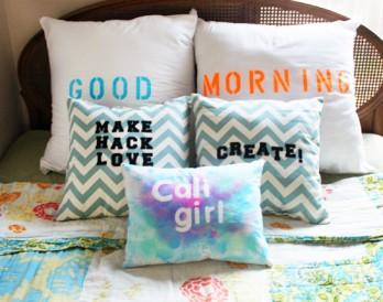 DIY Basics: 3 Easy Ways to Add Type to Pillows