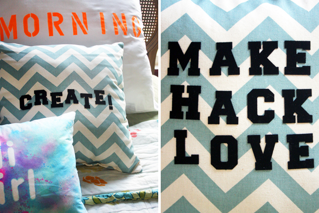 DIY Basics: 3 Easy Ways to Add Type to Pillows | Brit + Co.