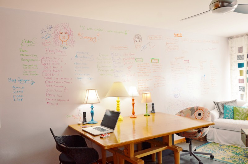 Diy Whiteboard Wall Write On Your Walls Brit Co